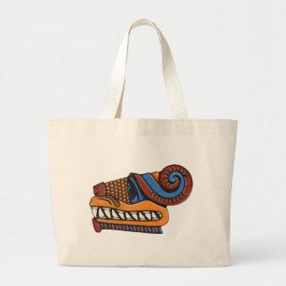 Quetzalcoatl Large Tote Bag