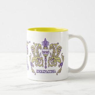 Quetzalcoatl Mayan God Two-Tone Coffee Mug
