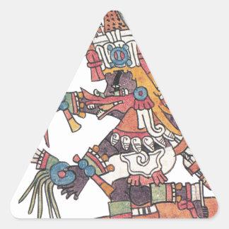 Quetzalcoatl Pegatina Triangular