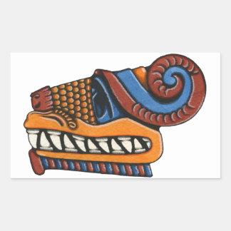 Quetzalcoatl Rectangular Sticker