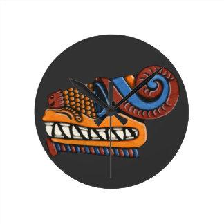 Quetzalcoatl Reloj Redondo Mediano