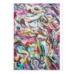 Quetzalcoatl rosado (expresionismo abstracto) postal