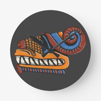 Quetzalcoatl Round Clock