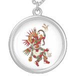 Quetzalcoatl Round Pendant Necklace