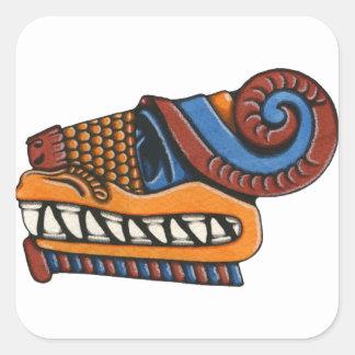Quetzalcoatl Square Sticker