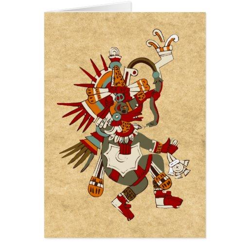 Quetzalcoatl Tarjeta De Felicitación