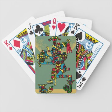 Aztec Themed Quetzalcoatl. Tribal Aztec Bicycle Playing Cards