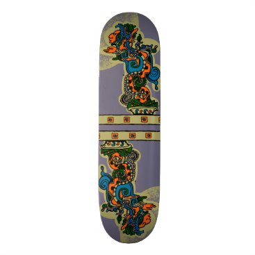 Quetzalcoatl. Tribal Aztec Skateboard Deck