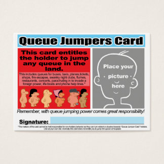 Queue Jumpers Cards