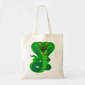 Queue Kobra snake cobra Tote Bags