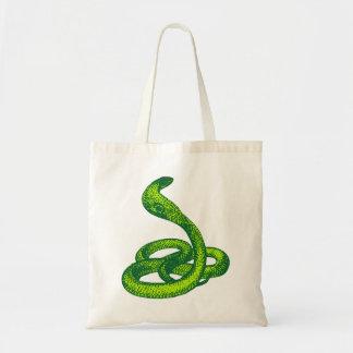 Queue Kobra snake cobra Canvas Bags