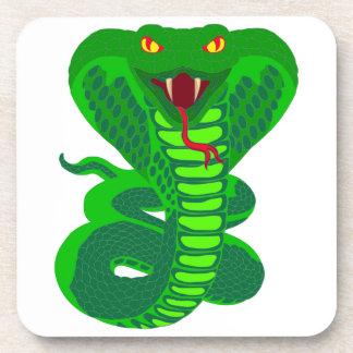 Queue Kobra snake cobra Drink Coasters