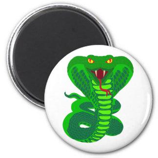 Queue Kobra snake cobra Refrigerator Magnets