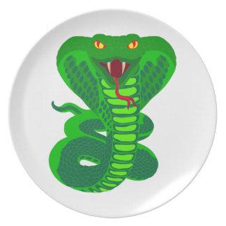 Queue Kobra snake cobra Dinner Plate