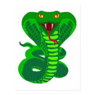 Queue Kobra snake cobra Postcard