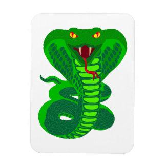 Queue Kobra snake cobra Rectangle Magnet