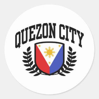 Quezon City Classic Round Sticker