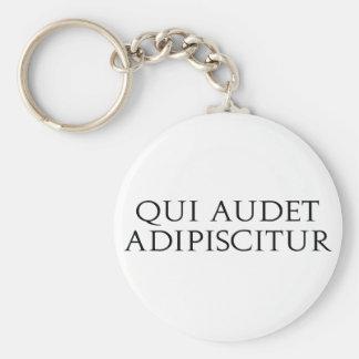 Qui Audet Adipiscitur Basic Round Button Keychain