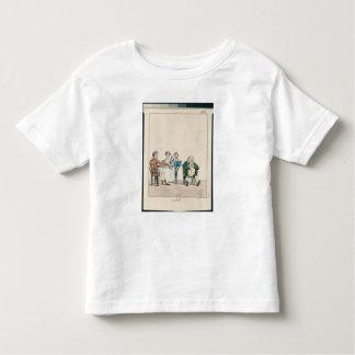 Qui dort dine', caricature of a man sleeping toddler t-shirt