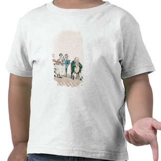Qui dort dine', caricature of a man sleeping t-shirts
