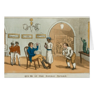 Qui Hi in the Bombay Tavern, from 'The Grand Maste Card
