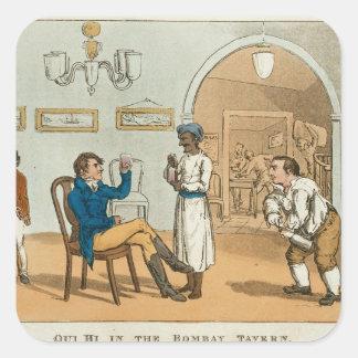 Qui Hi in the Bombay Tavern, from 'The Grand Maste Square Sticker