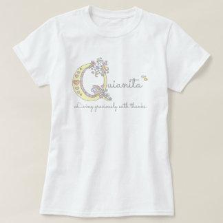 Quiantia girls Q name meaning monogram tee