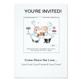 QUICHE ME! Invitations by April McCallum