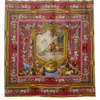 Quichotte Girly Baroque Old World Shower Curtain