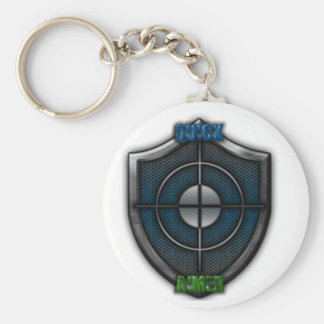 Quick Aim Basic Round Button Keychain