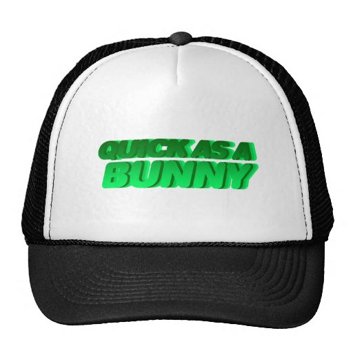 Quick As A Bunny - Rabbit Bunnies Fast Run Hat