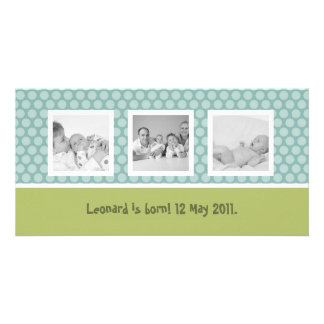 Quick birth announcement with cute polka dots