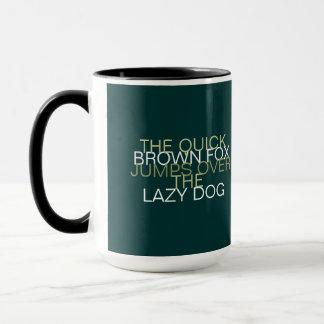 Quick Brown Fox Typography Mug