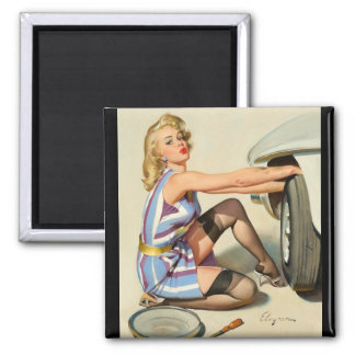 Quick Change Pin Up Art Magnet
