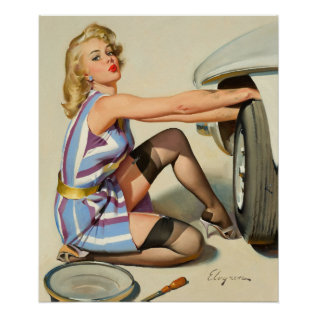 Quick Change Pin Up Art Poster at Zazzle