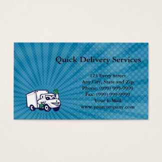 Quick Delivery Services Business Card