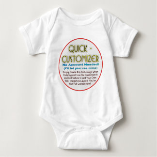 Quick/Easy Fully Customizable Template! Baby Bodysuit