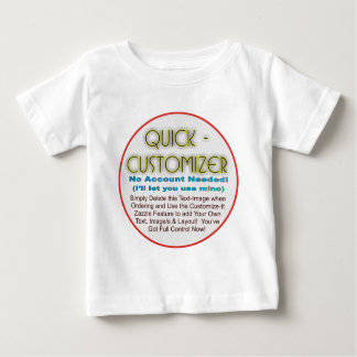 Quick/Easy Fully Customizable Template! Baby T-Shirt
