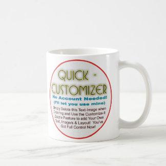 Quick/Easy Fully Customizable Template! Coffee Mug