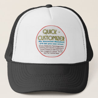 Quick/Easy Fully Customizable Template! Trucker Hat