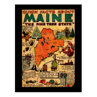 Quick Facts About Maine Postcard
