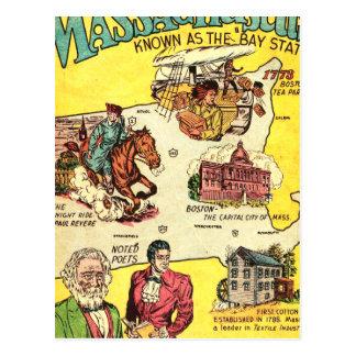 Quick Facts About Massachusetts Postcard