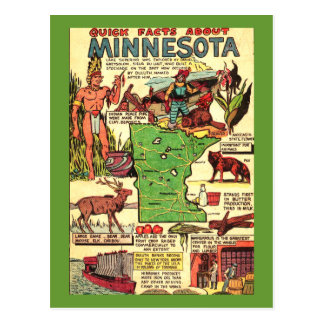 Quick Facts About Minnesota Postcard