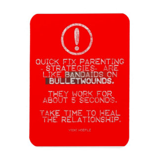 Quick Fix Parenting = Bandaid on Bulletwound Magnet