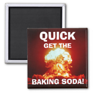 Quick, get the BAKING SODA! Magnet