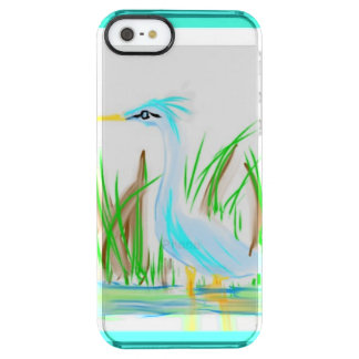 Quick sketch of a crane wading on an Iphone cover