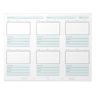 """Quick Storyboarding"" Notepad"