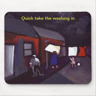 QUICK TAKE THE WASHING IN MOUSE PAD