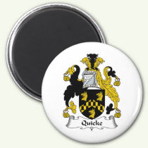 Quicke Family Crest Magnet