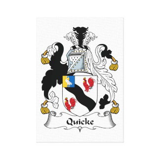 Quicke Family Crest Stretched Canvas Prints